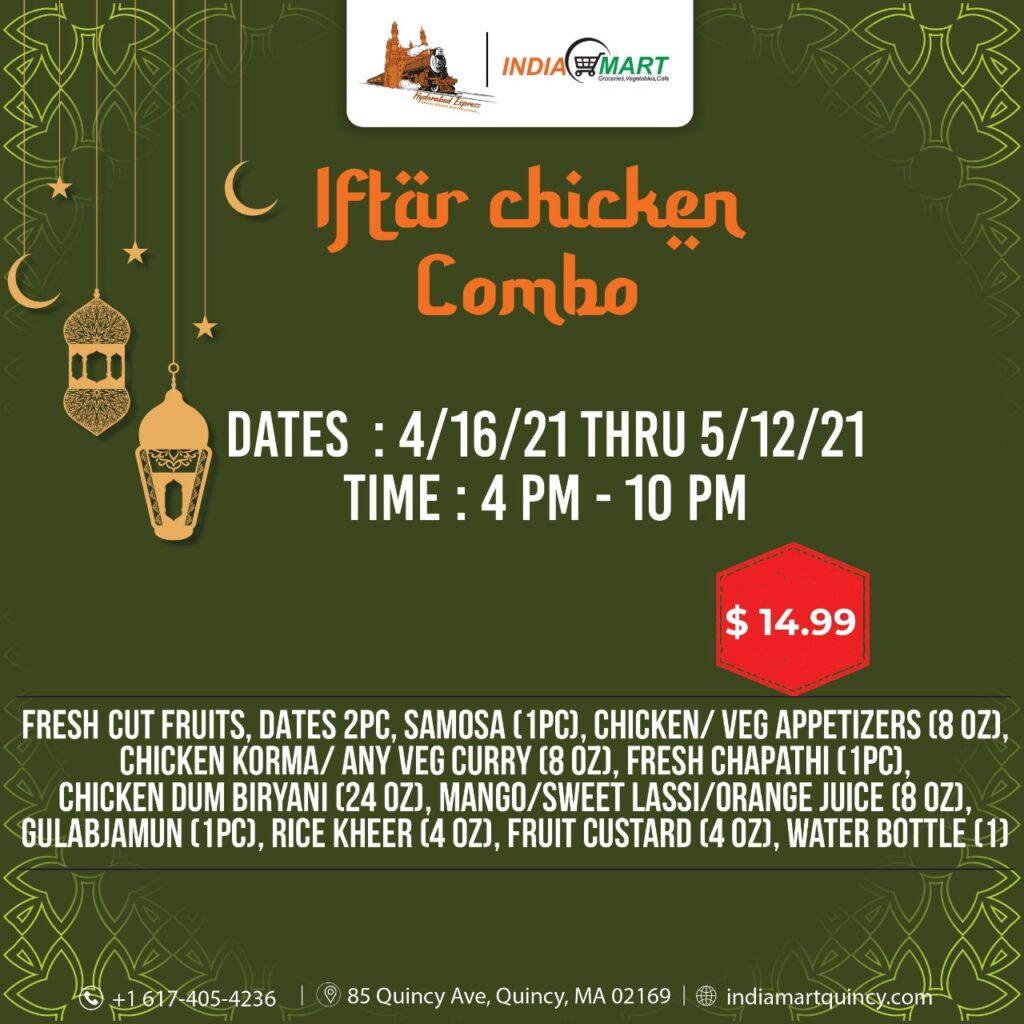 Iftar Chciken Combo Text