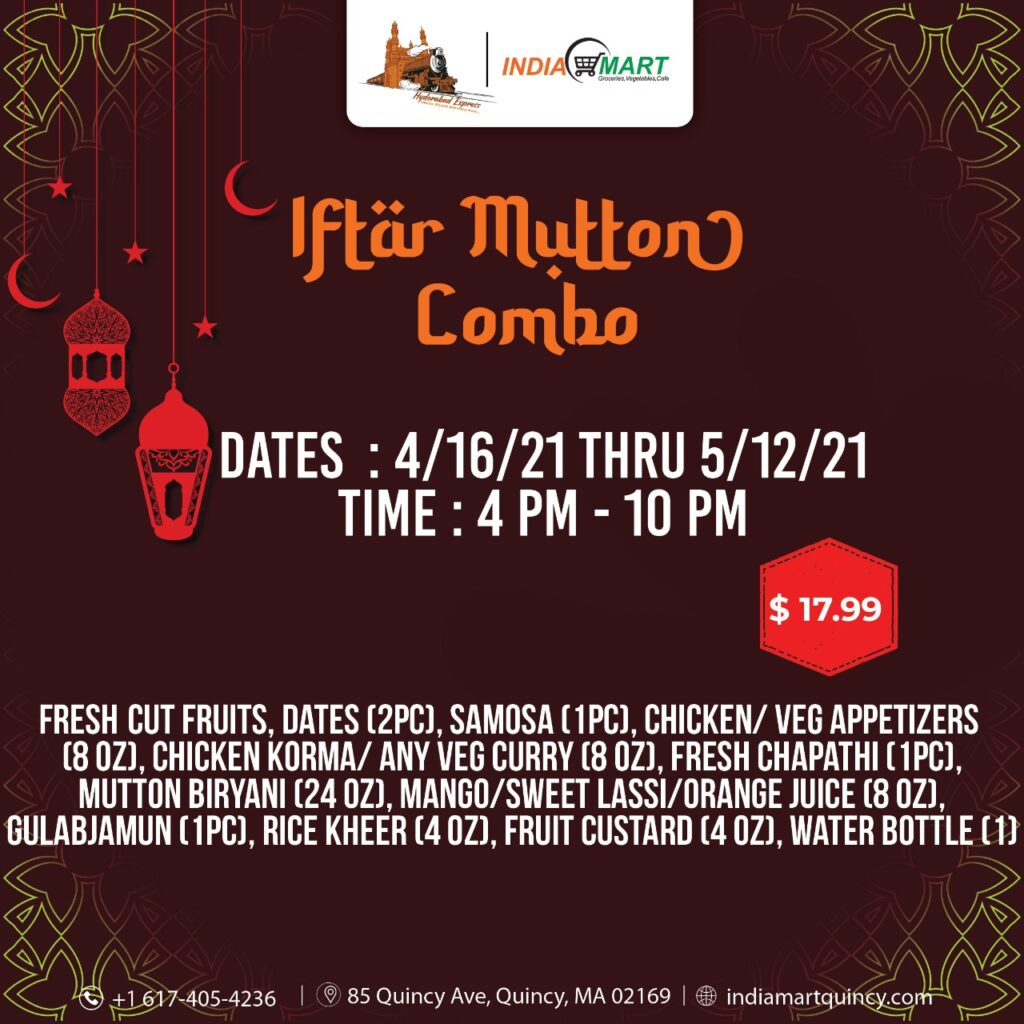 Iftar Mutton Combo Text